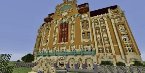 Redstone Hotel — большой отель co 100 редстун механизмами