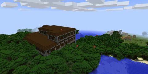 Сид на Лесной Особняк и деревню для Майнкрафт 1.13.2