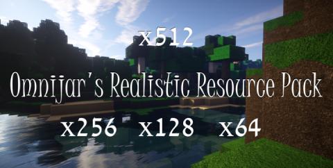OmniJar's Realistic [1.14.4] [1.13.2] (64x, 128x, 256x, 512x)