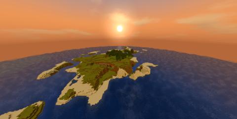 Большой остров с каньоном для выживания [1.16] [1.15] [1.14]