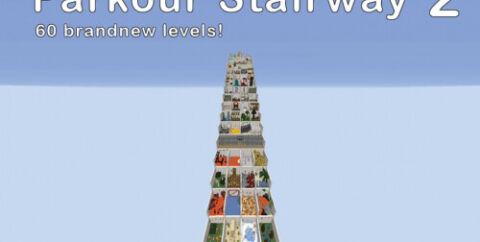 Parkour Stairway 2 [1.16.5] — 60 паркур-уровней