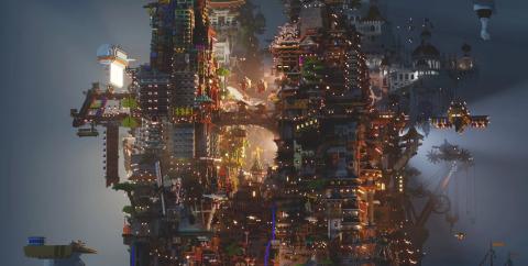 IHOU — многоуровневый город с уникальным стилем [1.14.4]