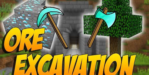 Ore Excavation [1.16.5] [1.15.2] [1.12.2] (быстрая добыча руды)