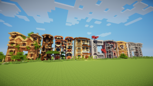 Minecraft Letter Frame Houses Map