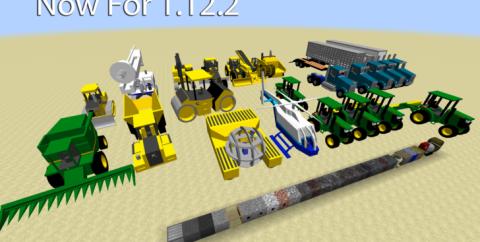 Heavy Machinery — трактора, самосвалы, бульдозеры и вертолеты [1.12.2] [1.8.9] [1.8]