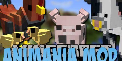 Animania [1.12.2] [1.11.2] [1.10.2] (цыплята, коровы, свиньи, хорьки)