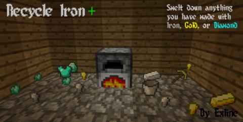 Recycle Iron [1.16.5] [1.11.2] [1.10.2] — переплавка