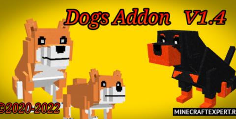 Dogs [1.16] [1.14] (мод на собак для Майнкрафт ПЕ)