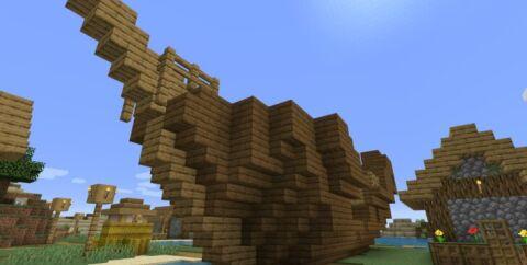 Сид c деревней на маленьком острове, кораблем и подводными руинами [1.14.4]