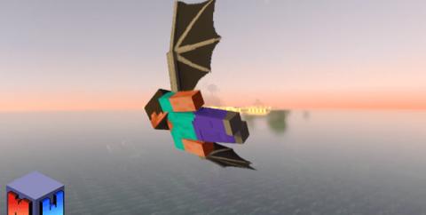 Ender Dragon Wings [1.16] [1.14] (крылья Эндер-дракона)