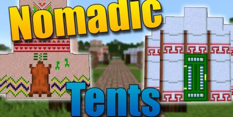 Nomadic Tents — палатки и юрты [1.15.2] [1.14.4] [1.12.2] [1.7.10]