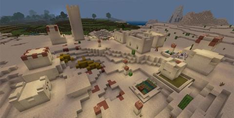 Сид — Много алмазов, 2 спаунера, 2 деревни, башня разбойников и храм в пустыне [1.14.4]