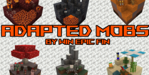 Adapted Mobs [1.17.1] [1.16.5] [1.15.2] [1.12.2] (16x)