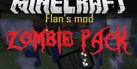 Flan's Zombie Pack [1.12.2] [1.7.10] (оружие и патроны)