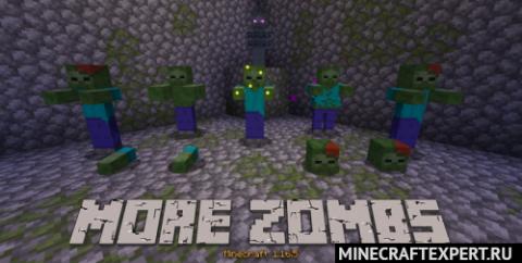 More Zombs [1.16.5] — новые разновидности зомби