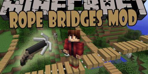 Rope Bridge [1.16.1] [1.15.2] [1.12.2] [1.11.2] (веревочный мост)
