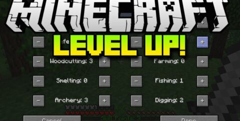 Level Up [1.12.2] [1.7.10] (Полезные навыки)
