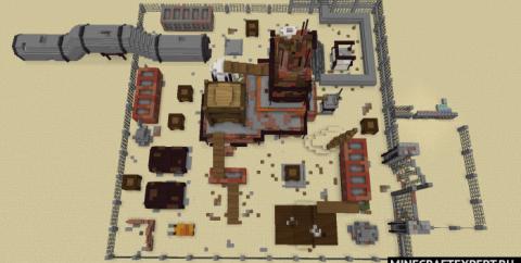 Карта Dust (Раст) из Call of Duty в Майнкрафт ПЕ [1.16]