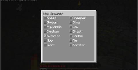 Spawner GUI для Minecraft 1.6.4 / 1.6.2