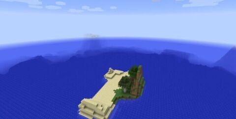 Сид на выживание с маленьким островом по среди океана [1.12.2] [1.11.2]