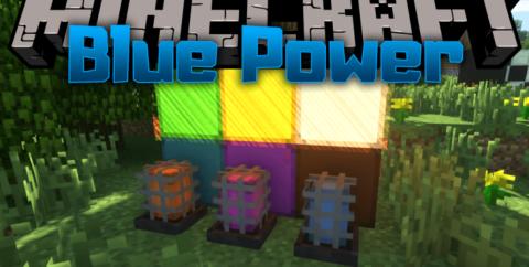 Blue Power [1.16.4] [1.15.2] [1.12.2] (перемещение блоков и передача сигнала)