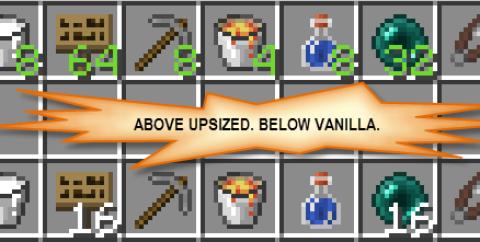 Upsizer [1.16.3] [1.15.2] [1.12.2] (увлеченное количество предметов в стеке)
