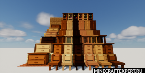 AlxFurniture [1.16.5] — деревянная мебель