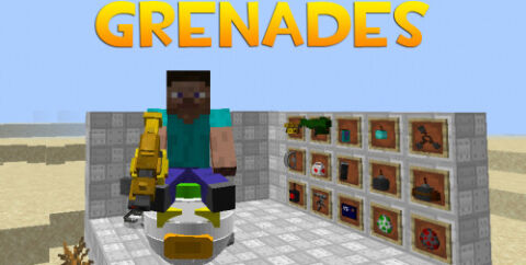Grenades [1.16.5] — ракетные установки, турели и летающие машины