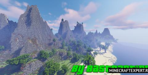 Тропические острова 1400×1400 блоков [1.16]