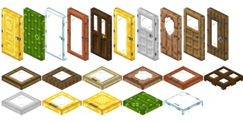 ExtraDoors [1.16.5] [1.15.2] [1.14.4] (новые виды дверей и люков)
