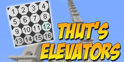Thut's Elevators [1.16.5] [1.15.2] [1.12.2] (лифт)