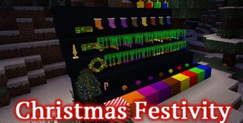Christmas Festivity [1.17.1] [1.16.5] [1.15.2] [1.12.2] (новогодние украшения)