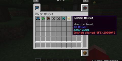 Solar Helmet [1.17.1] [1.16.5] [1.15.2] — шлем с солнечной панелью