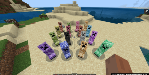 Colored Creepers [1.16] (цветные криперы)