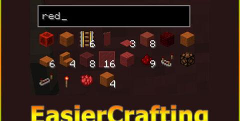 EasierCrafting [1.16.5] [1.15.2] [1.12.2] (простой крафт предметов)