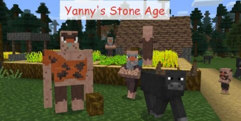 Yanny's Stone Age [1.15.2] [1.14.4] (Сложное выживание)