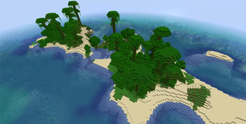 Сид — Два красивых острова с джунглями, кораблекрушение, храм и деревня [1.15.2]