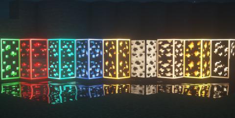 Visible Ores — светящаяся руда [1.17] [1.16.5] (16x)