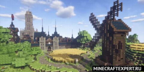 Fallhorntal — большой средневековый город с замком и портом [1.16.4]