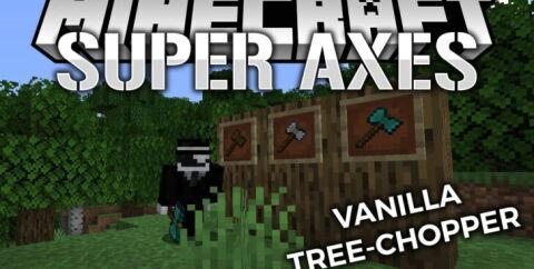 Super Axes [1.15.2] (быстрая рубка деревьев)