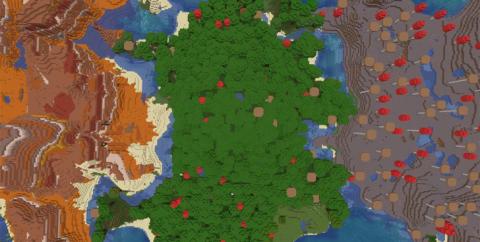 Сид на 3 деревни, 3 биома и хижину ведьмы  [1.14.4]