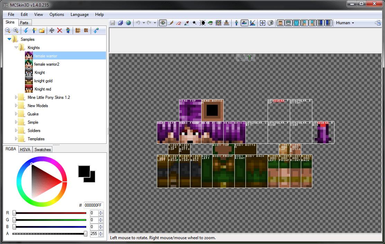 MCSkin3D - редактор скинов Minecraft