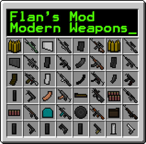Flan's Modern Weapons Pack Mod 1.8/1.7.10