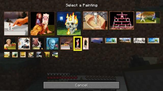 Painting Selection GUI - интерфейс выбора картины [1.12.2] [1.11.2] [1.10.2]