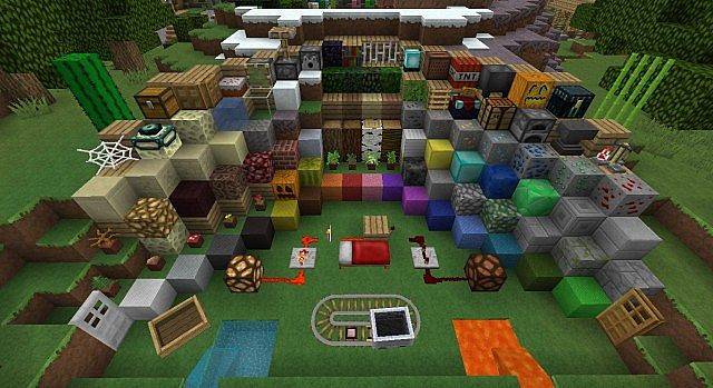 PixelCraft HD Resource Pack 1.7.10/1.7.2/1.6.4 [512x]
