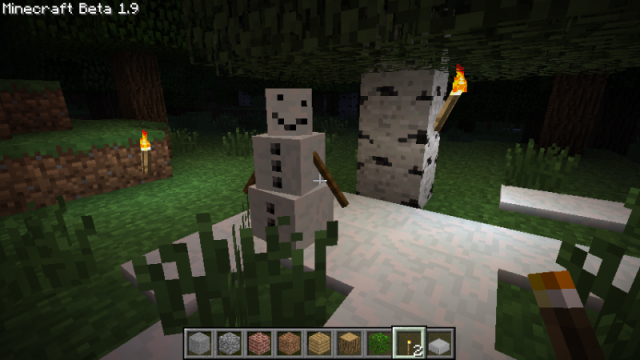 Pumpkin-less Snow Golem Mod 1.7.10/1.7.2/1.6.4/1.5.2