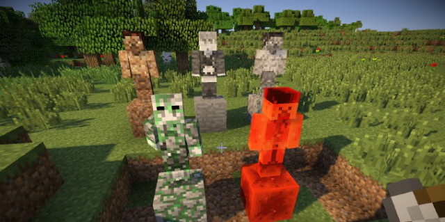 Statues Mod [1.7.2] [1.6.4] by Asie