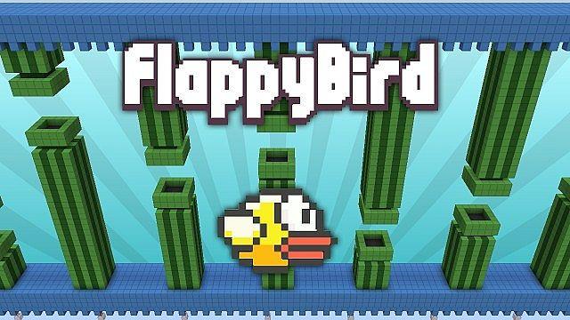 Flappy Bird in Minecraft Map [1.8] [1.7]