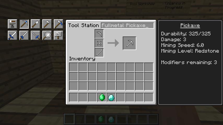 Tinkers construct как сделать кирку