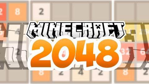 2048 in Minecraft Map 1.8.7/1.8